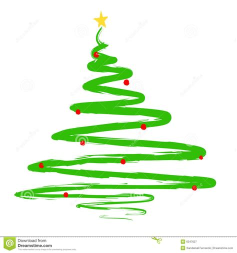 painted christmas tree illustration stock vector image