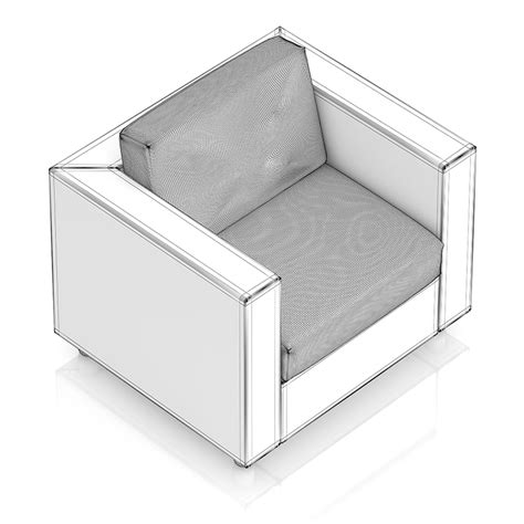 wicker armchair wicker armchair 3d model from cgaxiscgaxis 3d models