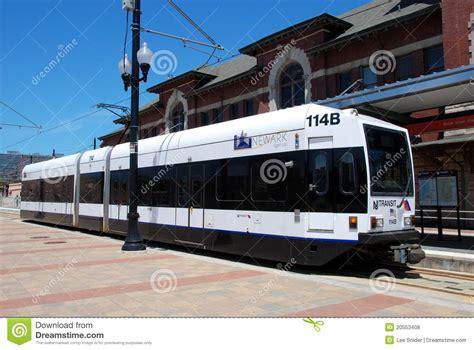 newark nj nj transit light rail editorial stock
