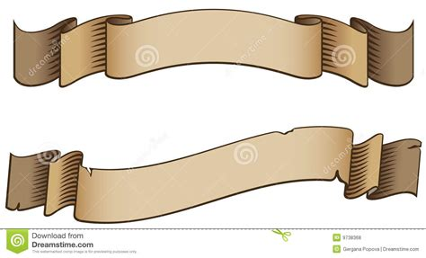 old style banners ribbons royalty free stock