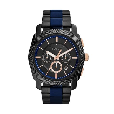Jam Tangan Wanita Fossil Analod Date Chronograph Stainles jual fossil machine chronograph jam tangan pria fs5164