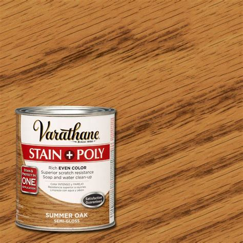 minwax 1 qt polyshades classic oak gloss stain and