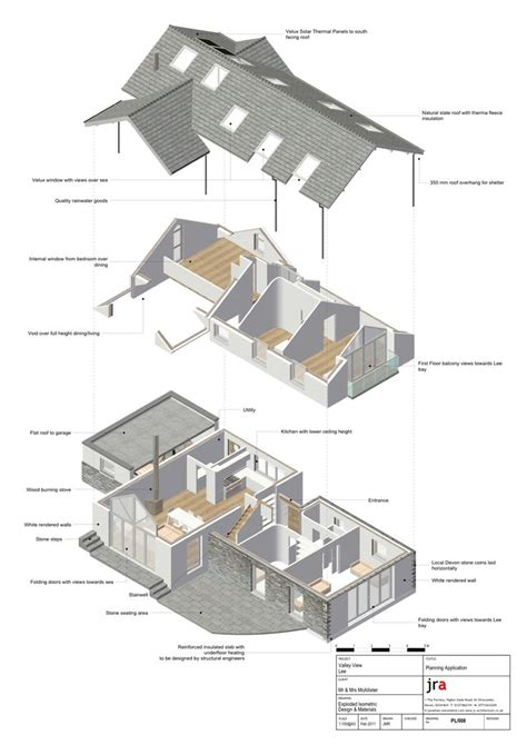 Home Design With Vectorworks Architect Exploded Isometric From Vectorworks Bim Model This 3d