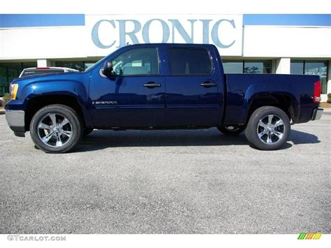 2009 midnight blue metallic gmc 1500 sle crew cab 13523532 gtcarlot car color