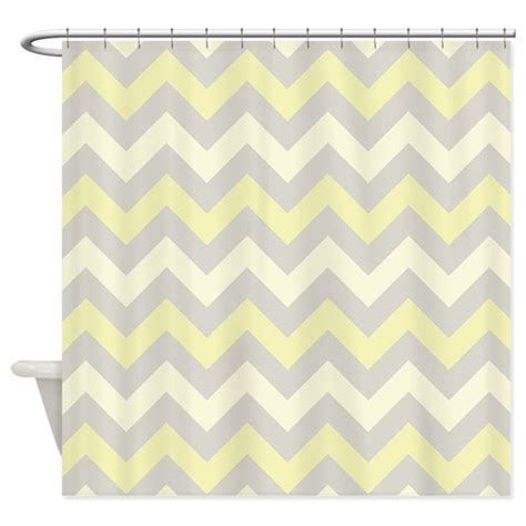 yellow zig zag pattern yellow and grey zigzag pattern shower curtain by