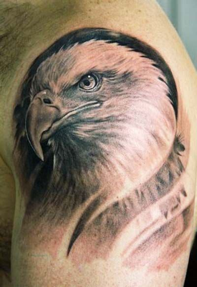 eagle head tattoos designs left shoulder eagle