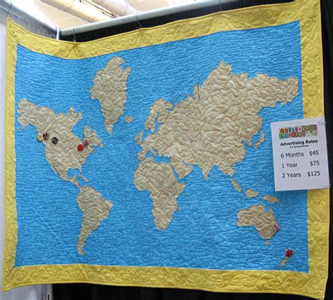 Map Of The World Quilt world map quilt quilting gallery