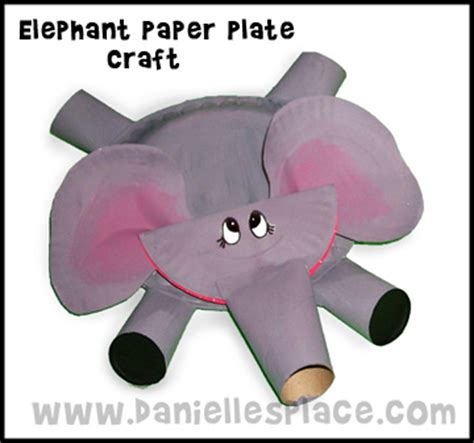 Paper Craft Elephant - elephant craft paper plate template search results