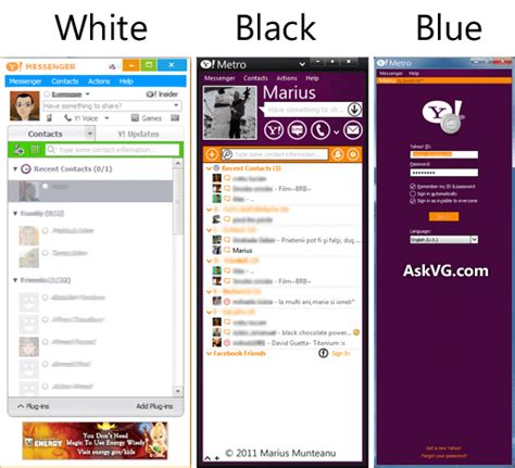 Download Themes Yahoo | metro ui download windows 8 metro style black blue and