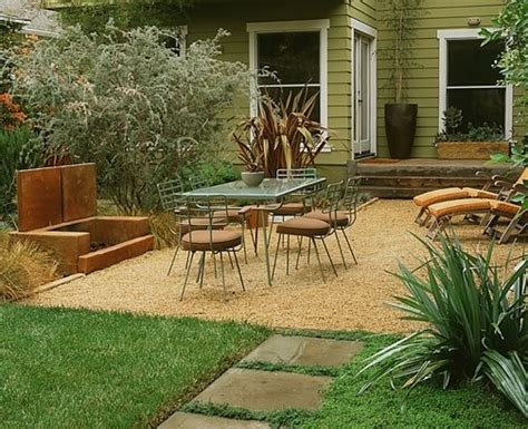 backyard pebble gravel patio los angeles ca photo gallery landscaping network