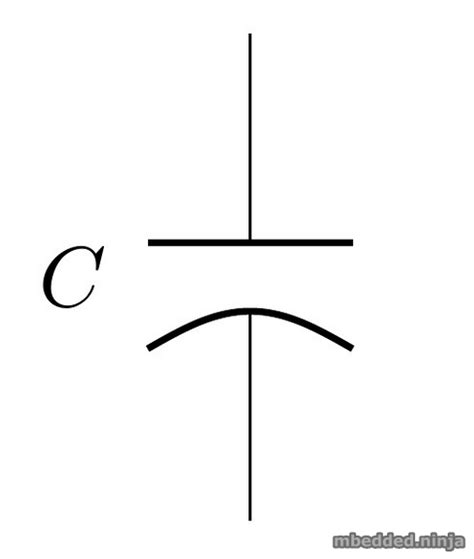 schematic symbol of capacitor capacitors mbedded