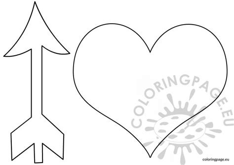 Free Coloring Pages Of Anheart And Arrow Printable Arrow Template