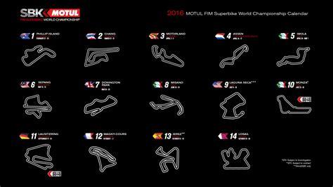 Calendrier G P Moto 2016 Calendario Provisional Mundial De Superbikes 2016