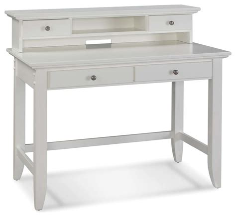 Naples White Student Desk And Hutch Transitional Desks White Desk And Hutch