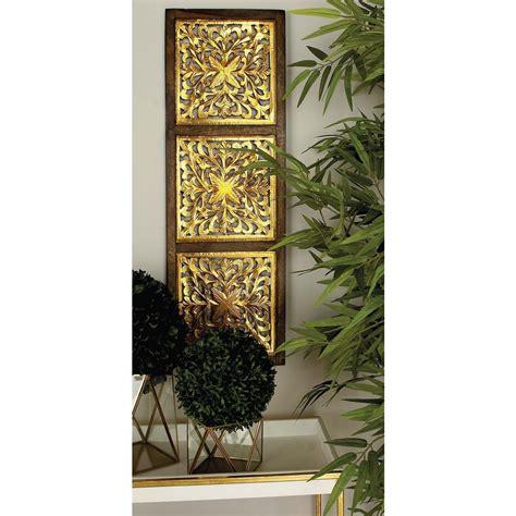 36 in x 12 in modern decorative lattice patterned wood