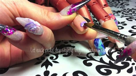 3d nail art tutorial youtube nail art tutorial 3d rose encapsulated in acrylic youtube
