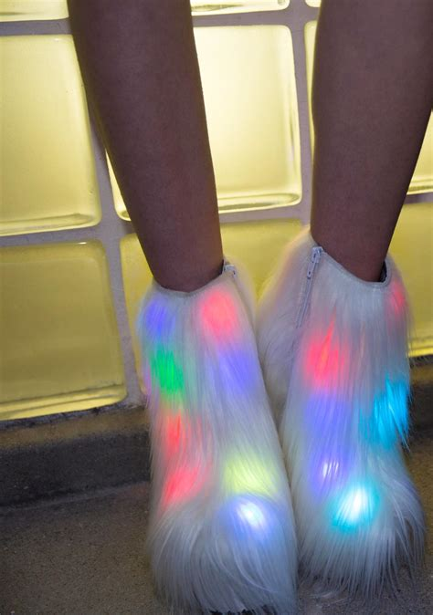 Light Up Boots by Current Mood Fluffer Light Up Boots Dolls Kill