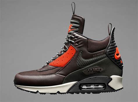 air max 90 sneaker boot nike air max 90 sneakerboot velvet brown hyper crimson