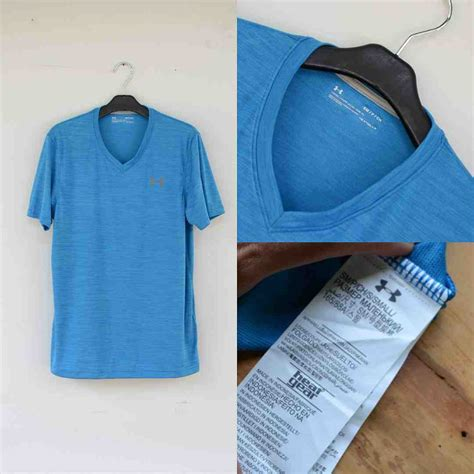 Kaos Sleeve Armour jual kaos armour heatgear v neck tshirt blue