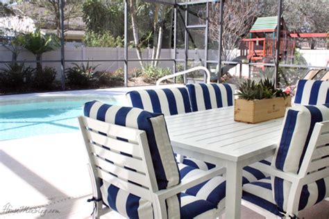 blue and white striped outdoor chair cushions house mix family decor and organizing part 10