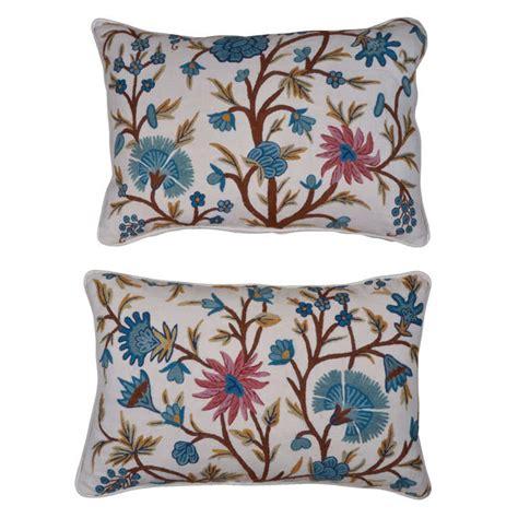 Crewel Pillows by Antique Crewel Work And Linen Pillows At 1stdibs