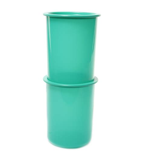 1 Pcs Canister Tupperware tupperware one touch green canister 2 pcs set 1 3l by