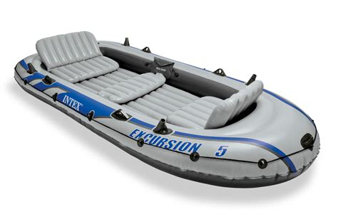 inflatable boat bunnings intex excursion 5 5 person inflatable boat set with
