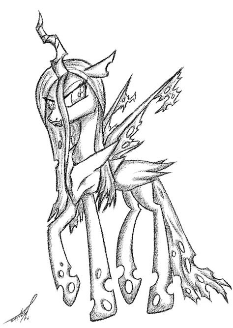 queen chrysalis by kojiro2561 on deviantart