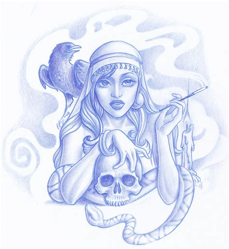 gypsy lady tattoo designs dame design by turbonecro on deviantart