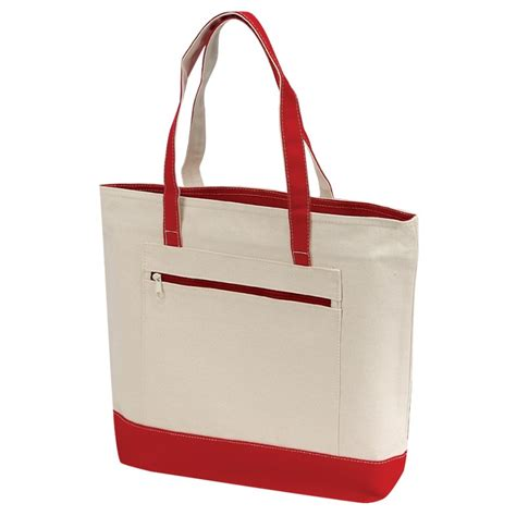 canvas zipper tote canvas zippered tote bag