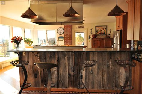 Build A Kitchen Island With Seating by Rustic Bars The Shellhammer