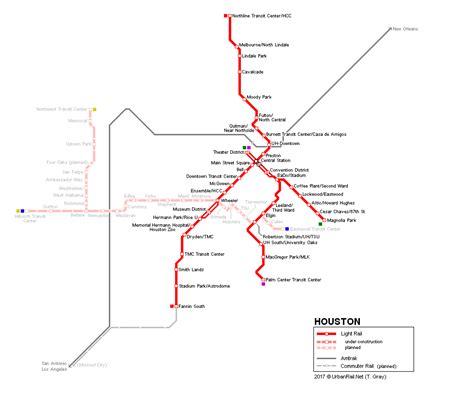 houston light rail map urbanrail net gt usa gt houston light rail