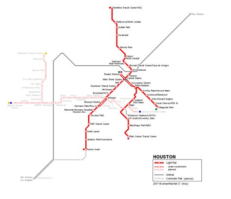 houston map with metro rail urbanrail net gt usa gt houston light rail
