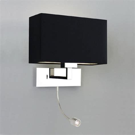 modern hotel style bedside wall light  integral led reading light