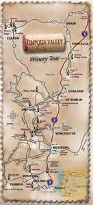 umpqua valley oregon wine tour map