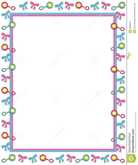 Baby Shower Boarder by 13 Baby Pink Borders Vector Images Baby Shower
