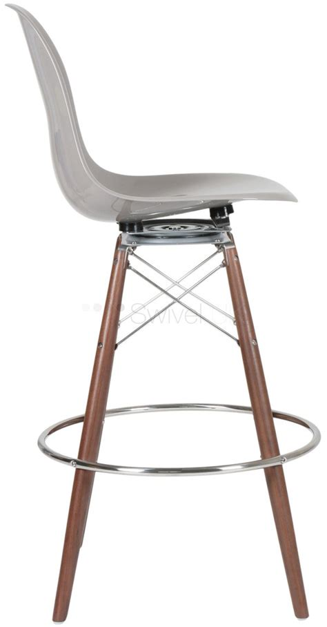 Eames Swivel Bar Stool by Charles Eames Style Dsw Fibreglass Barstool With Swivel