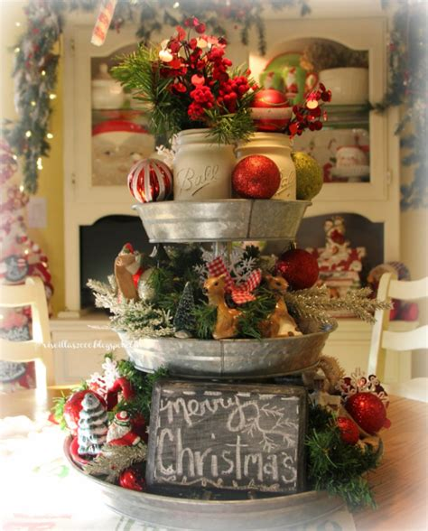 xmas tree table arrengment images prettiest table centerpiece decoration ideas celebration all about