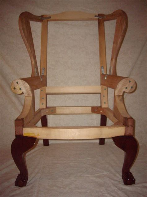 wood frame wingback chair chippendale wing chair frame finewoodworking