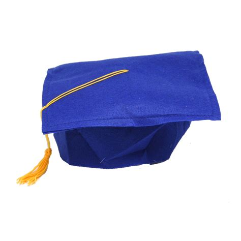 graduation cap blue felt graduation cap