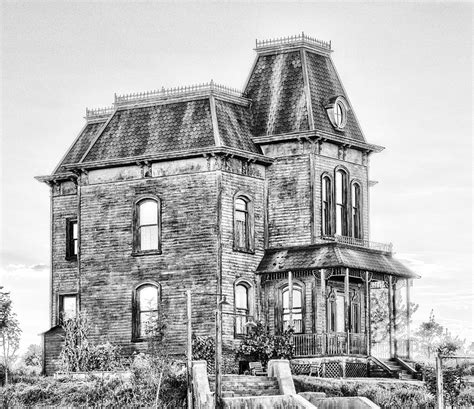 bates motel haunted house bates motel haunted house black and white photograph by paul w sharpe aka wizard of