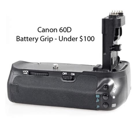 best battery grip for canon 60d under 50 dollars