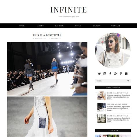 lifestyle blog design minimal blogger template responsive design infinite