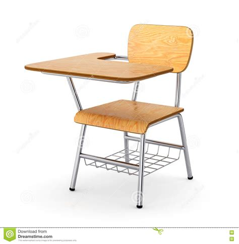wooden school desk stock image image of class knowledge
