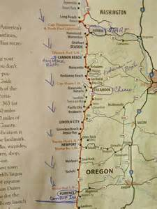 map of hwy 101 oregon ramblings of roamers the oregon coast highway 101