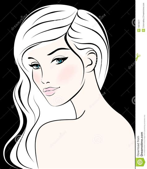 long hair stock photos royalty free images vectors woman face with long hair vector illustration royalty
