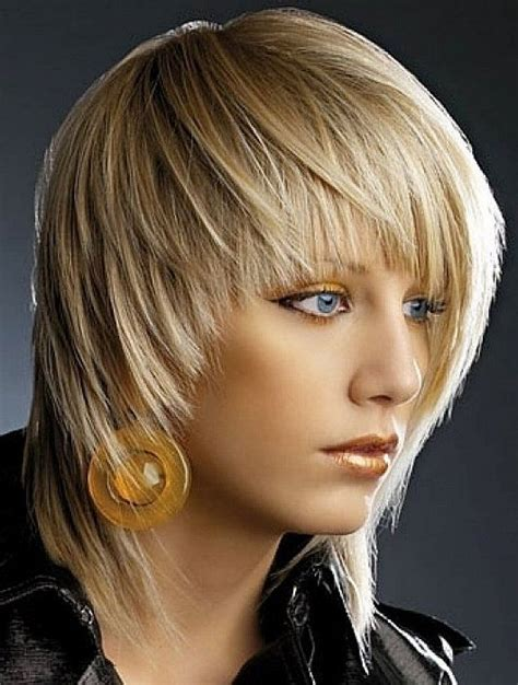 feathered front of hair medium blonde shaggy hairstyles for fine hair with bangs