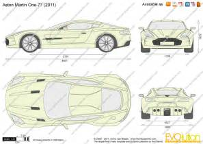 Aston Martin One 77 Dimensions The Blueprints Vector Drawing Aston Martin One 77