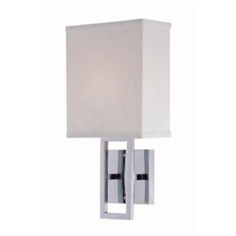 illumine designer collection 1 light chrome wall sconce
