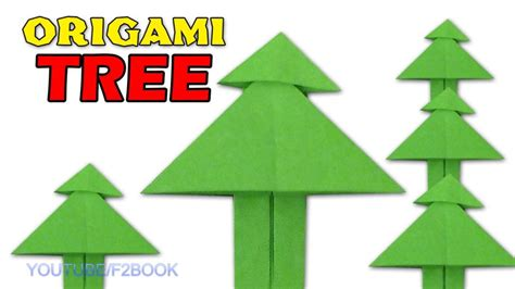 free coloring pages paper tree origami easy paper